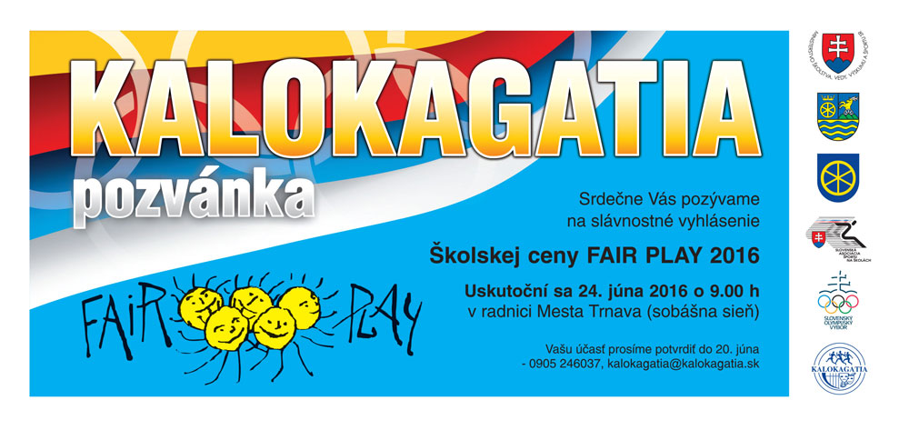 Pozvanka kalokagatia 2016 fair play 01